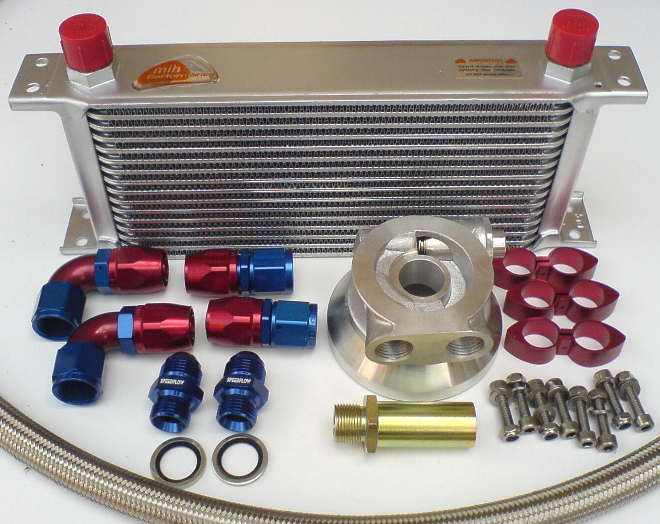Motor Oil Coolers : Chevy small big block engine oil cooler kit cast